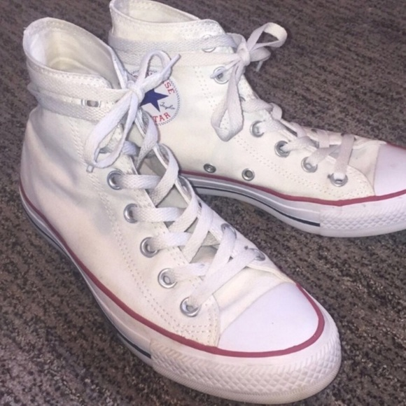 White high top converse 2931b8ddb54